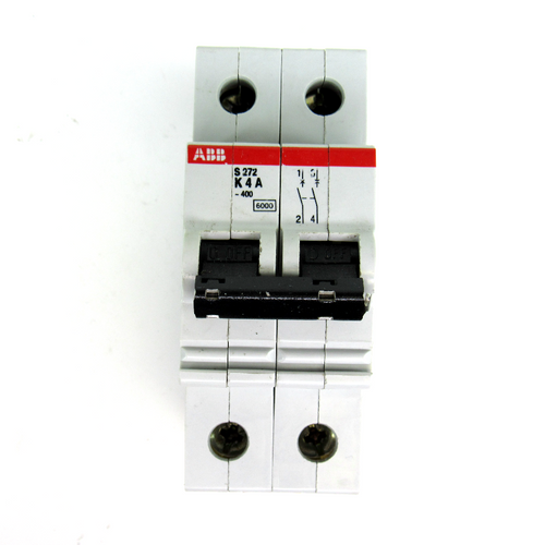 ABB S272 K4A Circuit Breaker, 4 Amp, 277/480V, 2-Pole