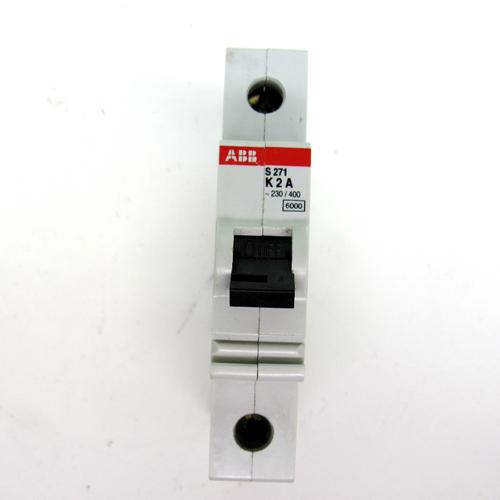 ABB S271 K2A Circuit Breaker, 2 Amp, 230/400V AC, 1-Pole