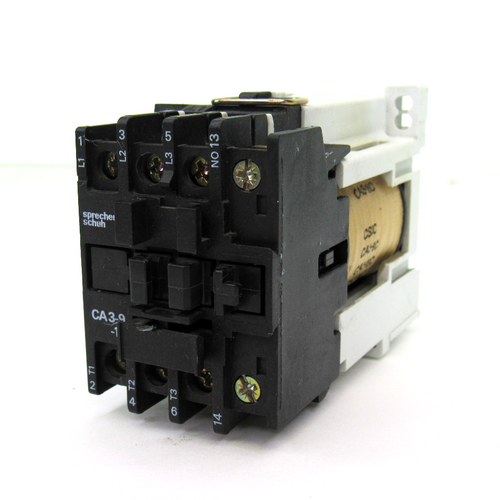 Sprecher+Schuh CA 3-9-10 Contactor, 24 Amps, 24V DC Coil, 120C, 3-Phase