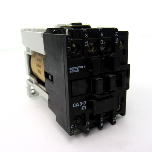 Sprecher+Schuh CA 3-9C-01 Contactor, 24 Amp, 600V, 24V DC Coil