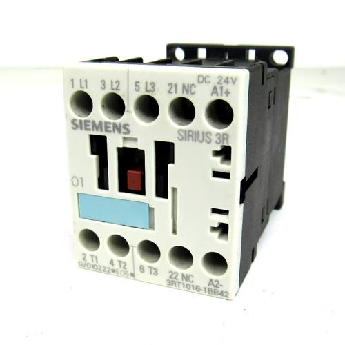 Siemens 3RT1016-1BB42 Sirius 3R Contactor, 20 Amp, 600V AC, 24V DC
