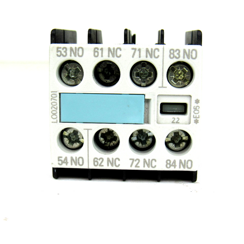Siemens 3RH1911-1FA22 Auxiliary Contact Block, General Use:10 Amp, 240V