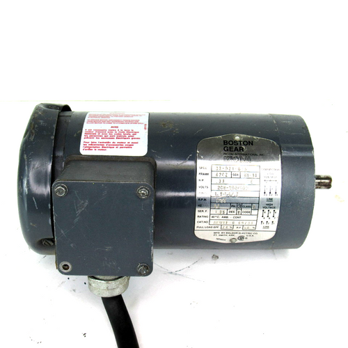 Boston Gear 33-921-675 Motor, .33 HP, 208-250/460V, 1.5-1.4/.7 Amp, 1725 RPM, 60Hz, 3-Phase