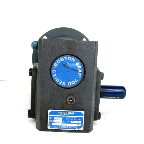 Boston Gear RF718-5-B5-G Speed Reducer, Right Angle, 1.0SF @ 1750 RPM, 2.080 HP, 5:1 Ratio, Output Torque: 337 Lb. Inch