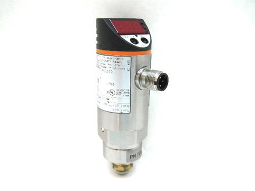 Ifm Efector PN7229 Pressure Sensor 18-30 Vdc 1/4 Npt -30-+20 Range
