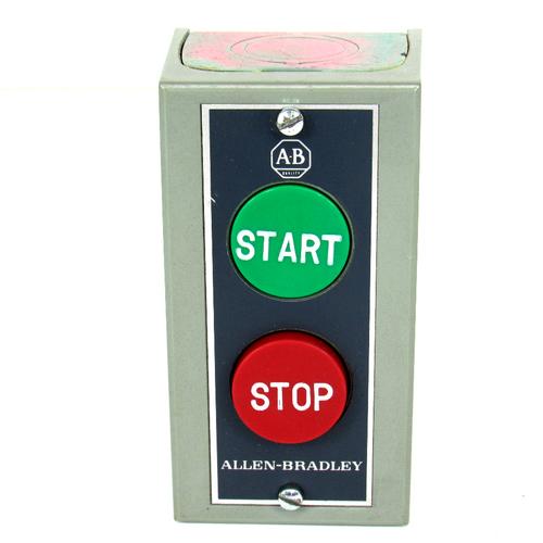 Allen Bradley 800S-2SA Ser. M Start/Stop Pushbutton Station, 600V AC, Type 1