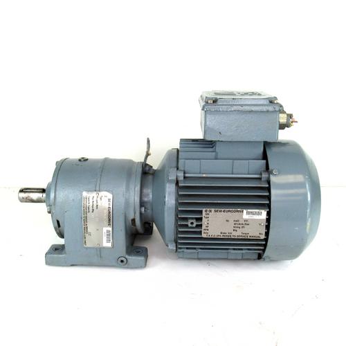 Sew-Eurodrive R40DT90L4 Gear Motor, 230/460V, 60 Hz, 6.2/3.1 Amp, 2HP, 279 RPM, 3-Phase, w/ R40 Gear Reducer 6.17:1 Ratio