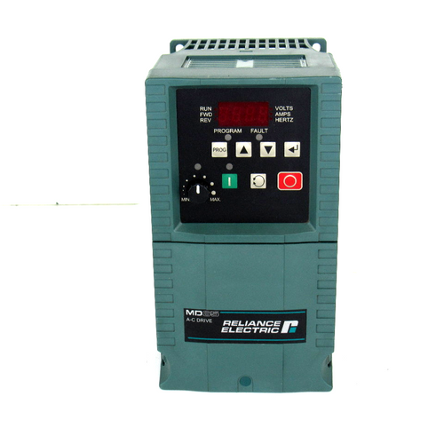 Reliance Electric 6MDBN-2P3102 Ser. A, AC Drive, 3-Phase, 240V AC, 2.5 Amp, 48-63Hz