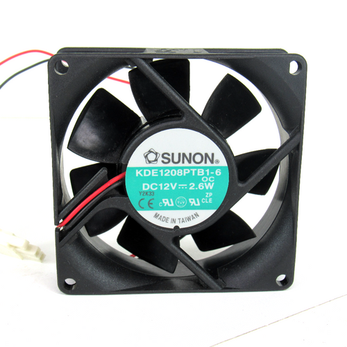Sunon KDE1208PTB1-6 Axial Fan, 12V DC, 2.6W, 2-Wire