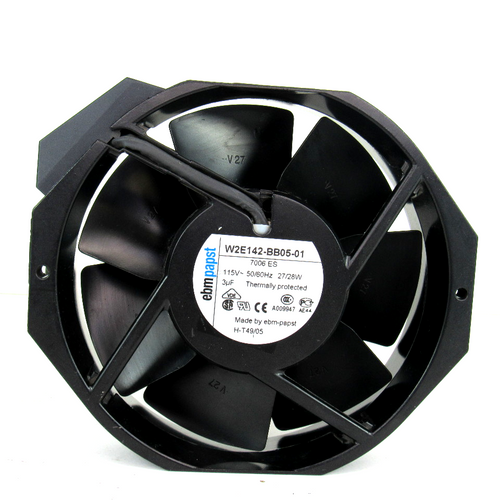 EBM-Papst W2E142-BB05-01 AC Fan, 115V, 50/60Hz, 27/28W, 57dBA