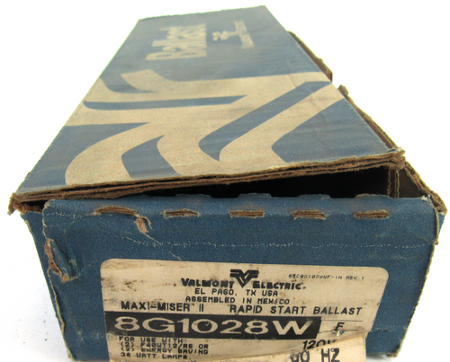 Valmont Electric 8G1028W MAXI-MISER II, 2 Lamp Rapid Start Ballast, 120V, 60Hz