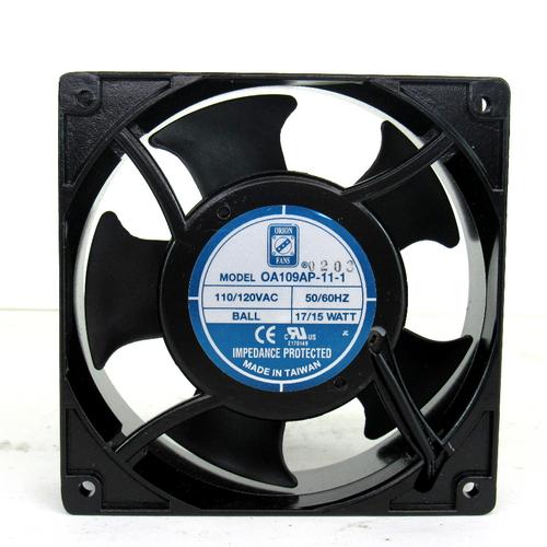 Orion Fans OA109AP-11-1 AC Cooling Fan, 110/120V AC, 50/60Hz, 17/15 Watt, Impedance Protected