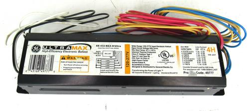 GE Lighting GE-432-MAX-H/Ultra Instant Start Ballast, 120-277V, 50/60Hz