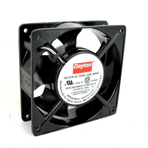 Dayton Electric 4WT47 AC Axial Fan, 105 CFM, 2900 RPM, 0.18 Amps, 18 Watt, 115V AC, 60 Hz, NEW