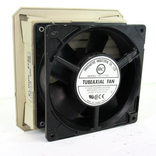 Innovative Industrial Co. 4E-115S Tubeaxial Fan, 115V AC, 50/60 Hz, 24/22W w/ Eldon EF20 Fan Filter
