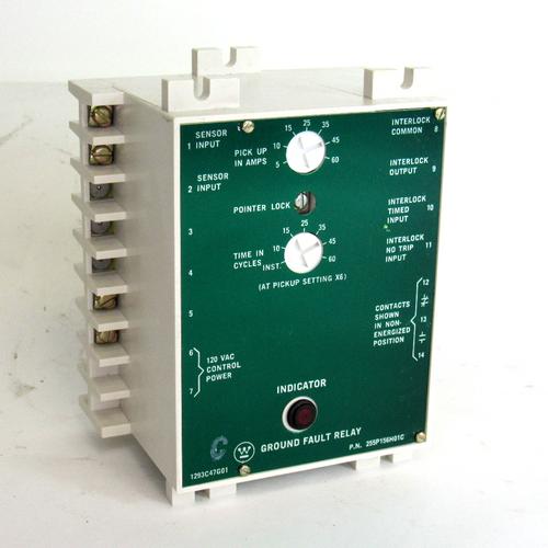 Westinghouse 255P156H01C Ground Fault Relay, 120V AC, 125 Amp, 50/60Hz