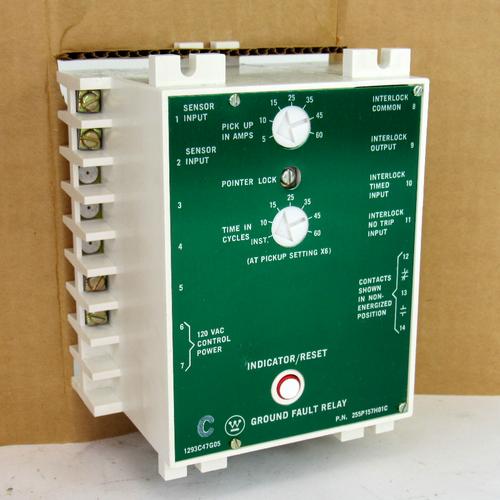 Westinghouse 255P157H01C Ground Fault Relay, 120V AC, 125 Amp, 50/60Hz, 125V DC