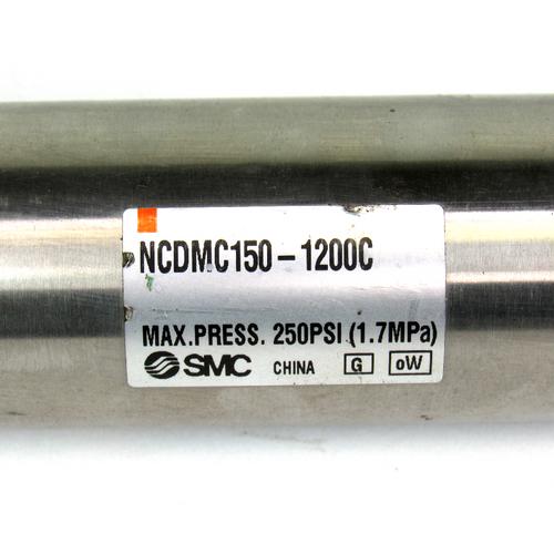 "SMC NCDMC150-1200C Round Body Cylinder, 1 1/2"" Bore, 1200mm Stroke"