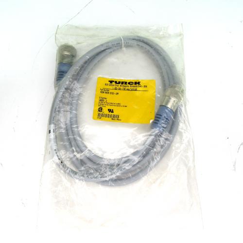 Turck RSM RKM 5722-2M Mini-Fast Cord Set, 5 Pin, New