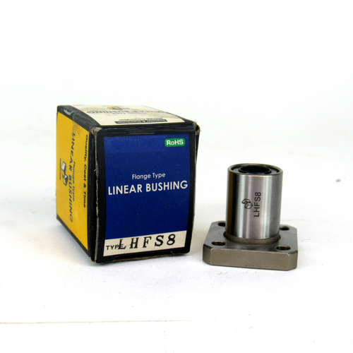Misumi LHFS8 Flanged Linear Bushing, Single, Opposite Counterbored Hole, NEW