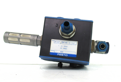 Festo MFHE-3-1/2 Solenoid Valve 10421, USED