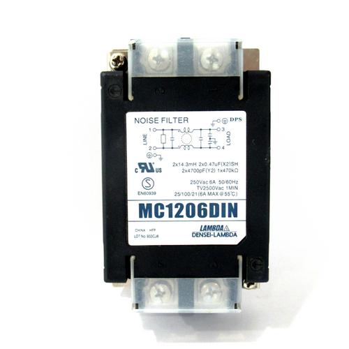 Lambda MC1206DIN Power Line Noise Filter, 250V AC