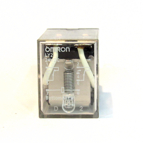 Omron LY2 Ice Cube Relay, 24V DC, Used