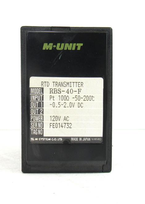 M-System RBS-40-F RTD Temperature Transmitter 120Vac