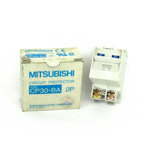 Mitsubishi CP30-BA Circuit Protector, 2-Pole, 7 Amp, NEW
