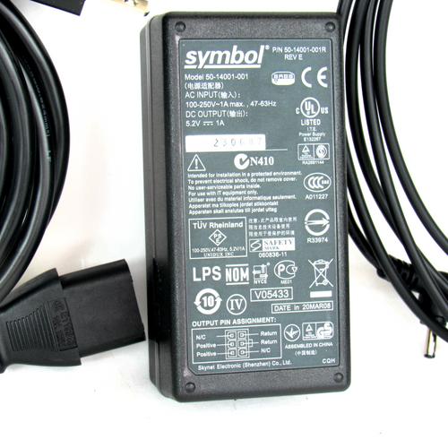 Symbol 50-14001-001 Power Supply for Barcode Scanner, 100-250V, NEW