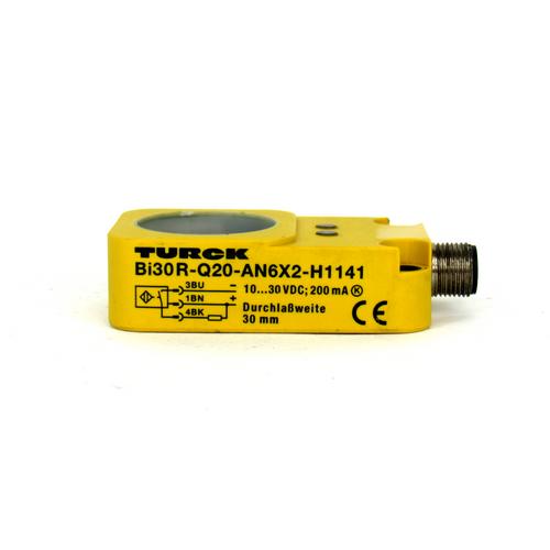 Turck Bi30R-Q20-AN6X2-H1141 Inductive Ring Sensor, 10~30V DC, 30mm