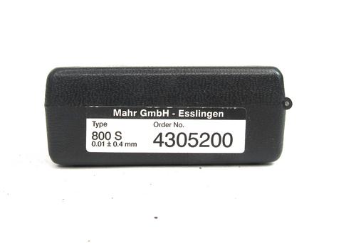 Mahr Type 800 S Dial Indicator 4305200