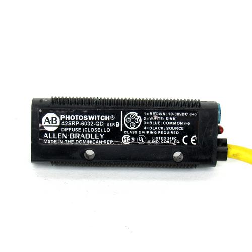 Allen Bradley 42SRP-6032-QD Ser. B Photoswitch Photoelectric Sensor, 10-30V DC