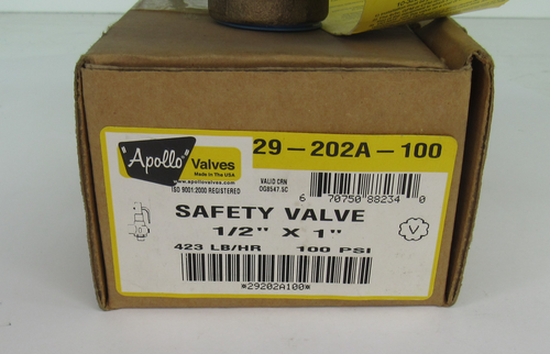 Apollo Valves 29202A100 Safety Relief Valve, NEW
