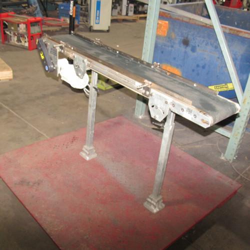 """Henseler 22 18 82 Belt Conveyor 51 1/2"""" with 7 3/4"""" Belt w/ Adjustable Legs"""