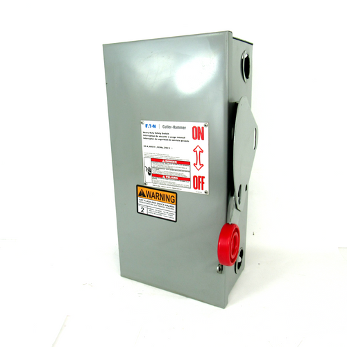 Eaton Cutler-Hammer Heavy Duty Safety Switch, 600V / 250V, 3-Pole