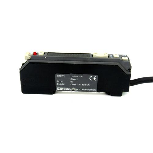 Keyence FS-V21RP Fiber Optic Photoelectric Sensor, Amplifier, 12-24V DC
