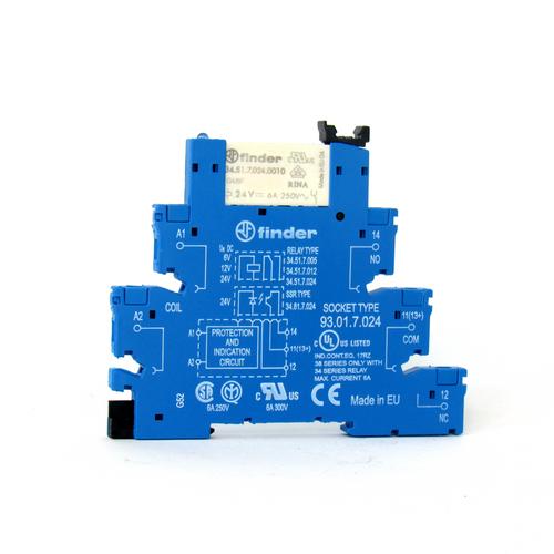 Finder 93.01.7.024 Relay Socket and Socket Set, 250V, 6 A