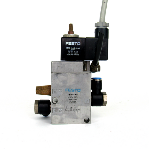 Festo MFH-3-1/4-S Solenoid Valve, 0.95~10 Bar
