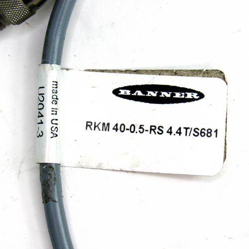 Banner RKM 40-0.5-RS 4.4T Cable Connector, 4-Pin Male, 4-Pin Female