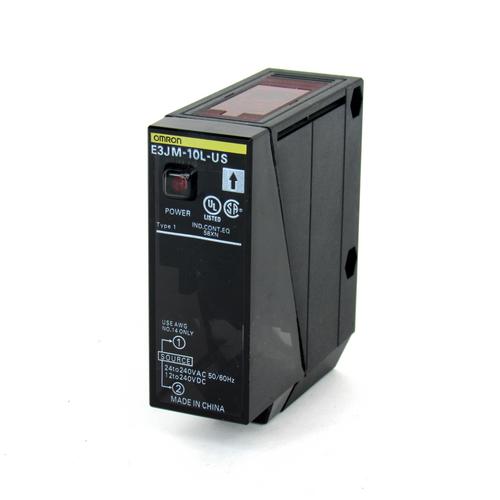 Omron E3JM-10L-US Photoelectric Emitter, 24-240V AC, 12-240V DC, NEW