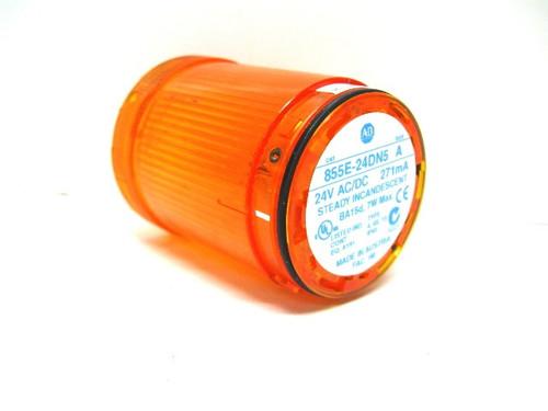 Allen Bradley 855E-24DN5 Ser. A Yellow Steady Light Module 24 Vac/Vdc
