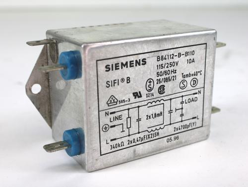 Siemens B84112-B-B110 Line Filter 250V-10A