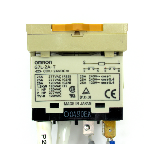 Omron G7L-2A-T Power Relay, 24V DC