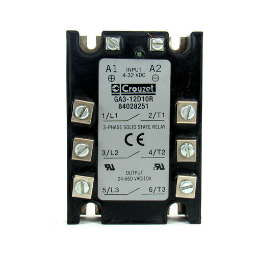 Crouzet GA3-12D10R Solid State Relay, 3-Phase