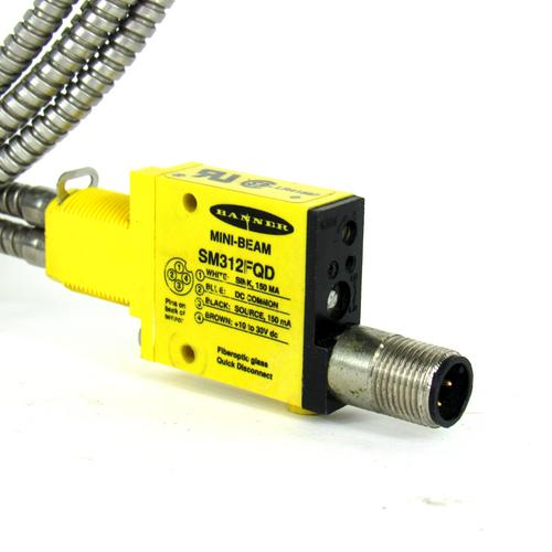 Banner SM312FQD Mini-Beam Photoelectric Sensor, 10-30V DC