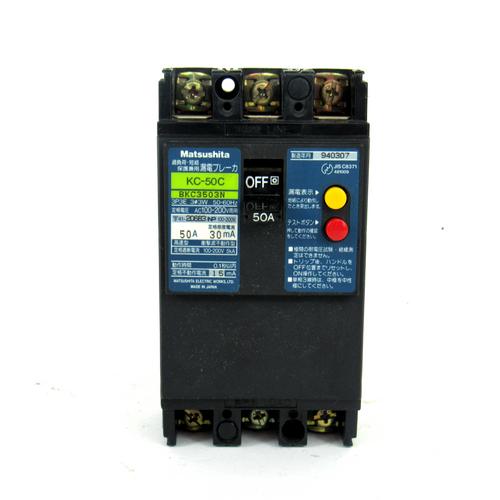 Matsushita KC-50C Circuit Breaker, 100-200V AC, 50A