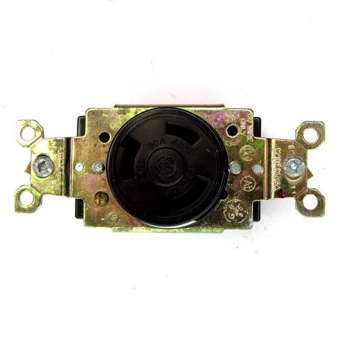 General Electric GL 0830 Single Locking Receptacle, Brown, 480V AC