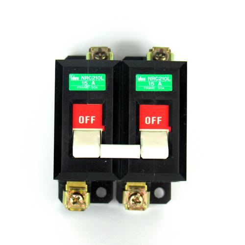 Idec NRC210L Circuit Protector, 15 A, 250V