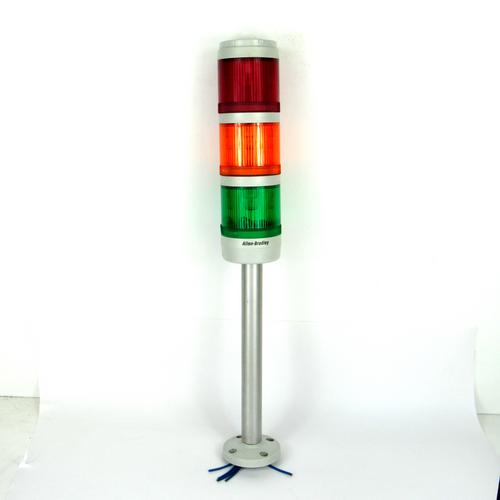 Allen Bradley 855T-GPM25 Ser. B Control Tower Base w/ Red, Amber, Green Lights